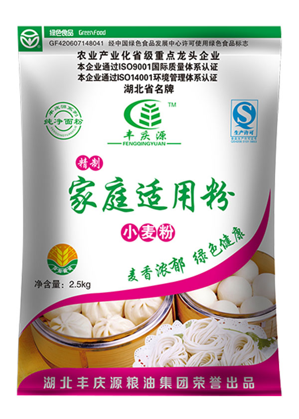 广东精制家庭适用小麦粉2.5kg